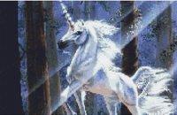 UNICORN Forest CROSS STITCH PATTERN CHART Fantasy