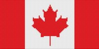 Canadian Flag Small Cross Stitch Pattern Fast and Easy
