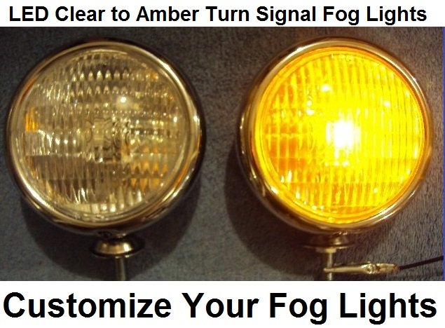 12 Volt Led Fog Lights : Clear to amber led turn signal park light fog lights