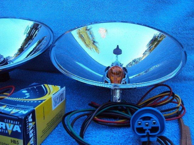 ford headlight reflectors w  turn signals halogen bulbs