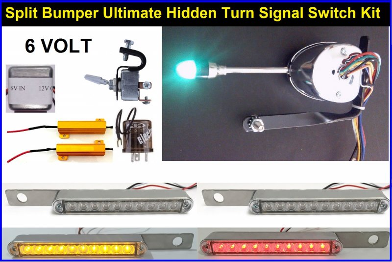model 39 39 a 39 39 6 volt hidden led turn signal light kit. Black Bedroom Furniture Sets. Home Design Ideas