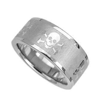 Skull Wedding Rings On Biker Stainless Steel Pirate Band