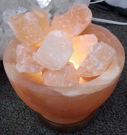 Salt Crystal lamp - ''Bowl of Fire''