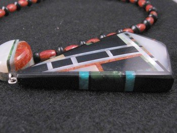 Image 4 of Christopher Nieto, Santo Domingo, Natural Multi Stone Inlaid Necklace