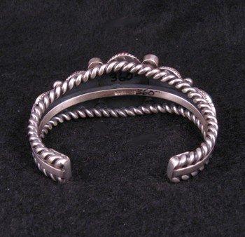 Image 3 of Navajo Multi Stone Silver Bracelet, Guy Hoskie