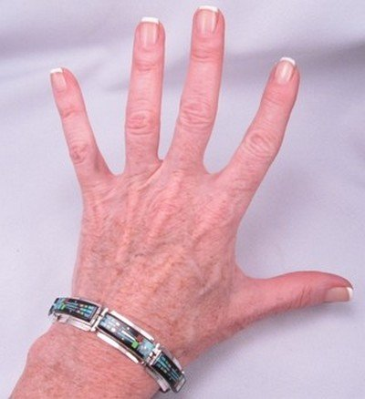 Image 3 of Sammy Smith ~ Navajo ~ Micro-Inlay Kachina Link Bracelet