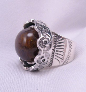 Image 3 of Sage Amethyst Agate Silver Ring, L. Bruce Hodgins, sz 11