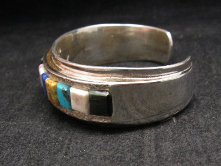 Image 4 of Hopi Multi Stone Inlay Bracelet, Bennard & Frances Dallasvuyaoma