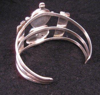 Image 3 of Nelson Morgan Navajo Turquoise Silver Mudhead Kachina Bracelet