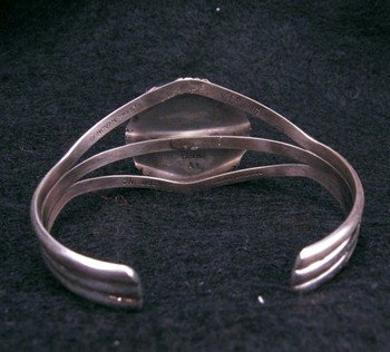 Image 4 of Navajo Native American Number 8 Turquoise Silver Bracelet