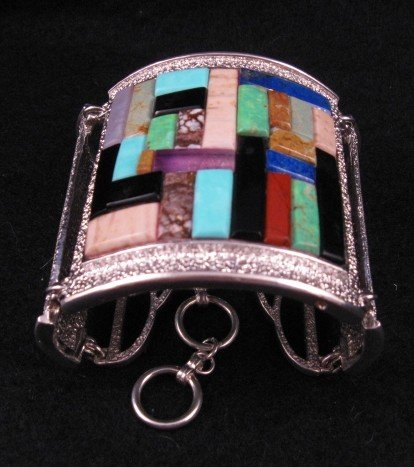 Image 1 of Hopi Inlay * Warrior Woman * Bracelet, Bennard & Frances Dallasvuyaoma