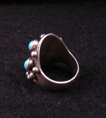 Image 3 of Navajo ~ Ronnie Willie ~ Turquoise Silver Ring sz9
