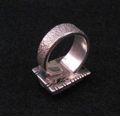 Image 3 of Navajo/Creek David Tune Adjustable Cobblestone Inlay Ring sz7-9