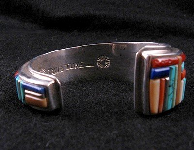 Image 4 of David Tune ~ Navajo/Creek ~ Cobblestone Inlay Bracelet