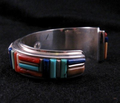 Image 5 of David Tune ~ Navajo/Creek ~ Cobblestone Inlay Bracelet