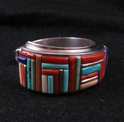 Image 6 of David Tune ~ Navajo/Creek ~ Cobblestone Inlay Bracelet