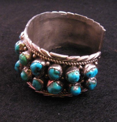 Image 3 of Native American Dead Pawn Turquoise Cuff Bracelet - Extra Large