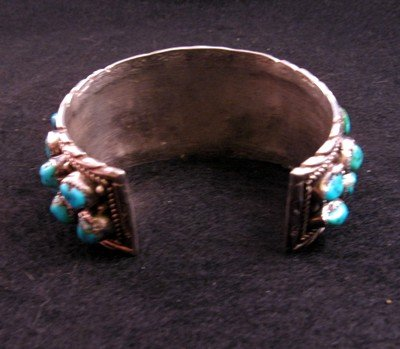 Image 4 of Native American Dead Pawn Turquoise Cuff Bracelet - Extra Large