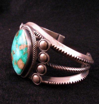 Image 3 of Virgil Begay Navajo Old Pawn Style Turquoise Bracelet