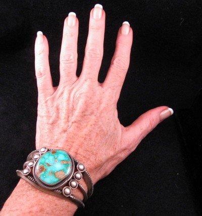 Image 5 of Virgil Begay Navajo Old Pawn Style Turquoise Bracelet