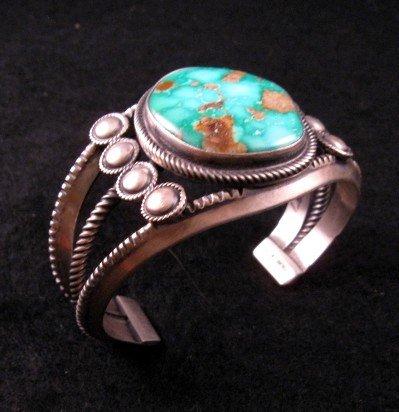 Image 6 of Virgil Begay Navajo Old Pawn Style Turquoise Bracelet