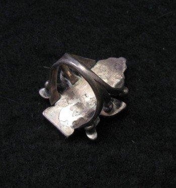 Image 3 of Vintage Native American Zuni Inlaid Knifewing Ring sz5