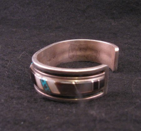 Image 4 of Vintage Zuni Jewelry Inlay Bracelet & Ring, W J Panteah