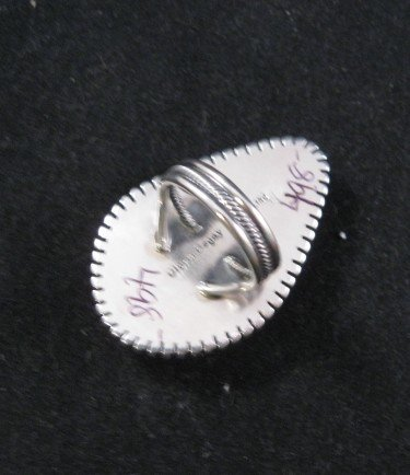 Image 3 of Gloria Begay Navajo Turquoise Sterling Silver Ring sz7