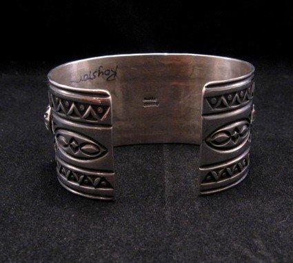 Image 4 of Royston Turquoise Cluster Silver Bracelet ~ Albert Jake ~ Navajo