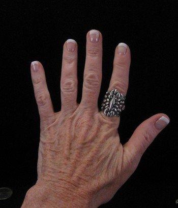 Image 4 of Fancy Darryl Becenti Navajo Sterling Silver Ring sz8