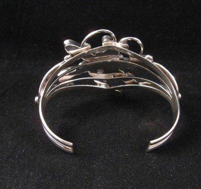 Image 3 of Native American Dragonfly Multigem Silver Bracelet