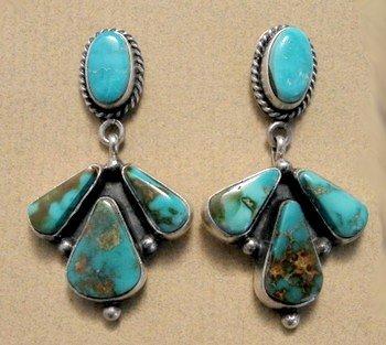 Image 3 of La Rose Ganadonegro Royston Turquoise Sterling Necklace Set - Native American
