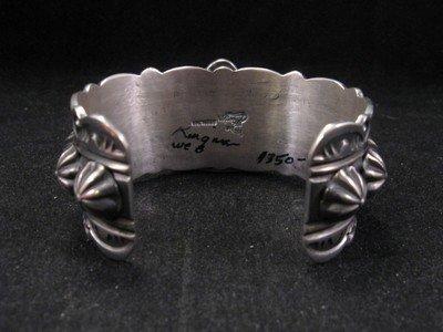 Image 4 of Delbert Gordon Navajo Kingman Turquoise Sterling Silver Bracelet