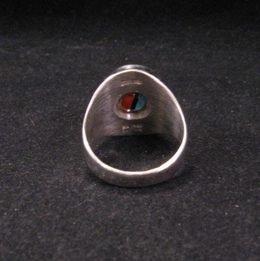 Image 4 of Don Dewa Zuni Sunface Inlay Spinner Ring sz11