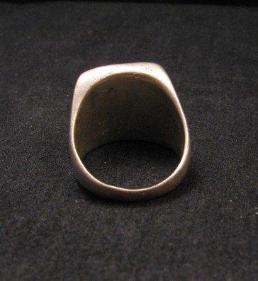 Image 3 of Old Vintage Pawn Zuni Turquoise Flush Inlay Ring sz10-1/2