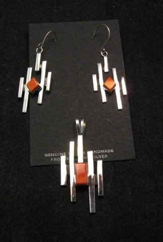 Image 4 of Contemporary Navajo/Dine Handmade Silver Earrings, Ronnie Henry