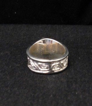 Image 3 of Navajo Ronnie Henry Dry Creek Turquoise Ring, sz6