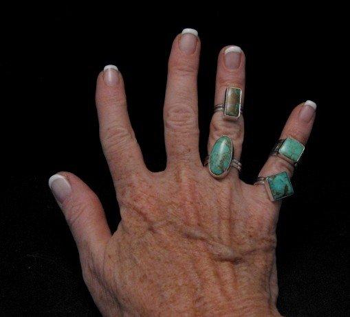 Image 3 of Navajo Everett & Mary Teller Royston Turquoise Ring sz4