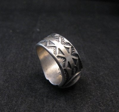 Image 3 of Gary Reeves ~ Navajo ~ Old Pawn Style Sterling Silver Ring sz7-1/2