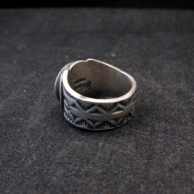 Image 4 of Gary Reeves ~ Navajo ~ Old Pawn Style Sterling Silver Ring sz7-1/2