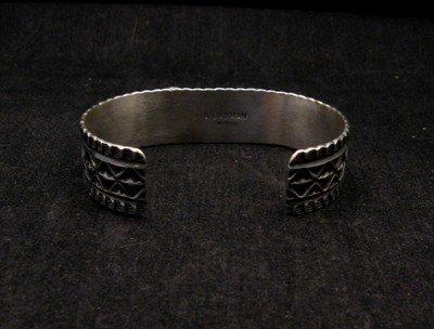Image 5 of Navajo Andy Cadman Kingman Turquoise Silver Bracelet