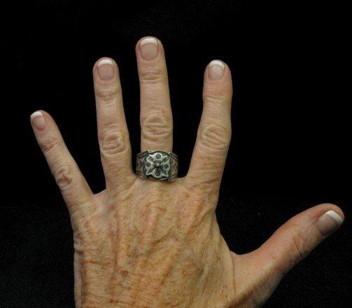 Image 3 of Gary Reeves Navajo Crossed Arrows Sterling Silver Ring sz9-1/2