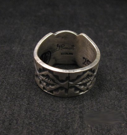 Image 4 of Gary Reeves Navajo Crossed Arrows Sterling Silver Ring sz9-1/2