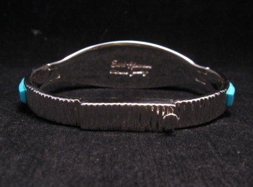 Image 4 of Fabulous Navajo Turquoise Inlay Bracelet, Earl Plummer
