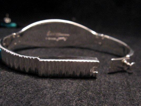 Image 6 of Fabulous Navajo Turquoise Inlay Bracelet, Earl Plummer