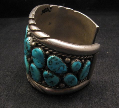 Image 3 of High Quality Native American Navajo Pawn Turquoise Cuff Bracelet