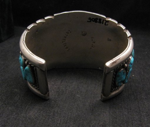 Image 4 of High Quality Native American Navajo Pawn Turquoise Cuff Bracelet