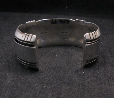 Image 4 of Dead Pawn Native American Navajo Turquoise Silver Bracelet, Benny Touchine