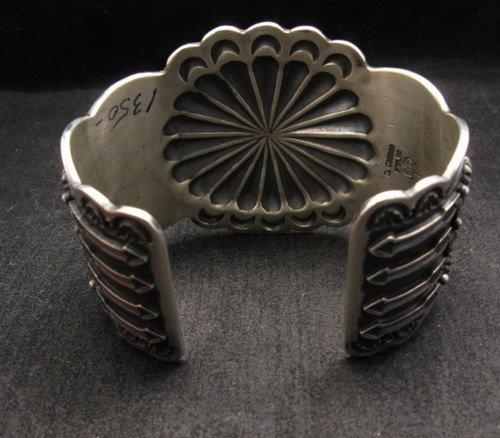 Image 6 of Darrell Cadman Navajo Kingman Birdseye Turquoise Sterling Silver Bracelet
