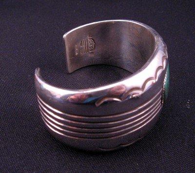 Image 2 of Gene & Martha Jackson, Navajo, Turquoise Silver Cuff Bracelet